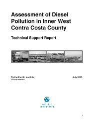 Assessment of Diesel Pollution in Inner West ... - Pacific Institute