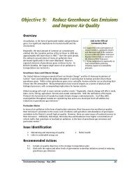 Reduce Greenhouse Gas Emissions and Improve Air Quality