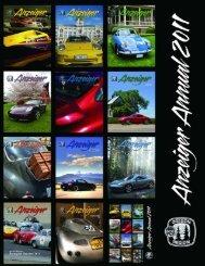 Anzeiger 2011 - Oregon Region Porsche Club of America