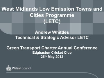 West Midlands Low Emission Towns and Cities Programme (LETC)