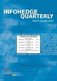 INFOHEDGE QUARTERLY - Select Asset Management