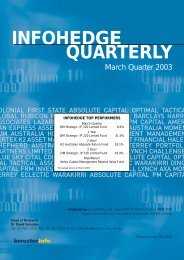 INFOHEDGE QUARTERLY - Select Asset Management