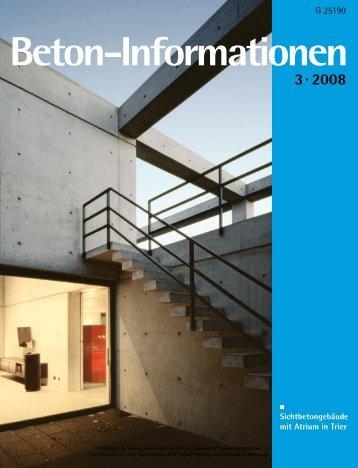 Beton-Info intern - beton informationen