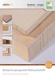 Kompetenzprogramm Holzwerkstoffe - Baumüller Plus