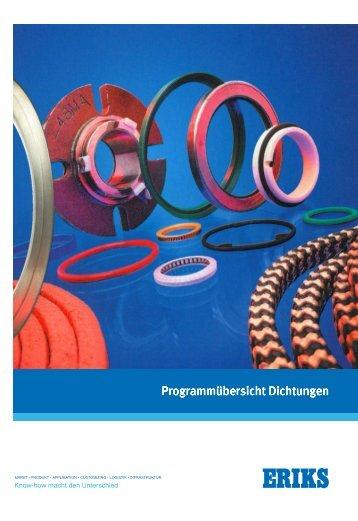 ERIKS group nv - Programmübersicht Dichtungen - O-Ring
