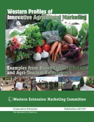 Western Profiles of Innovative Agricultural Marketing