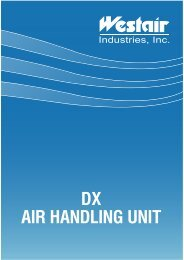 DX AIR HANDLING UNIT - Westair Industries Inc.