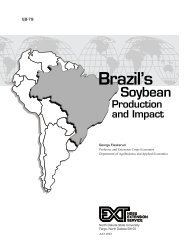 Brazil's Soybean Production and Impact - NDSU Agriculture