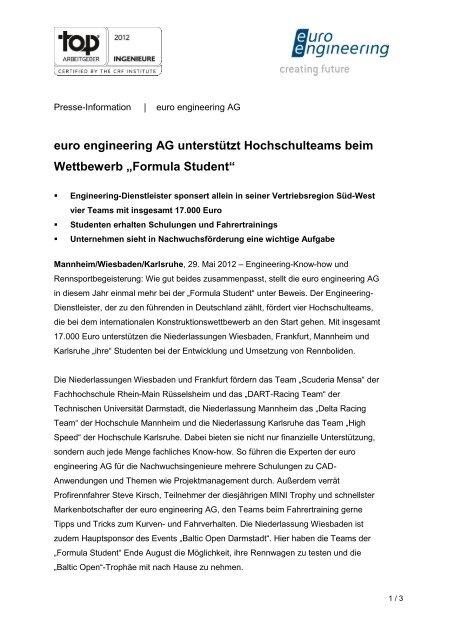 Formula Student - euro engineering AG