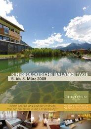 Kinesiologische Balance Tage