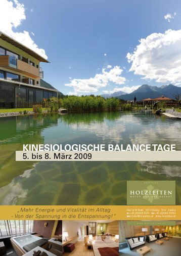 Kinesiologische Balance Tage
