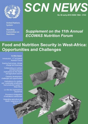 Food and Nutrition Security in West-Africa: Opportunities ... - UNSCN