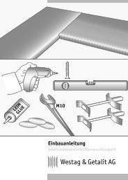 Einbauanleitung TEST! - Westag & Getalit AG