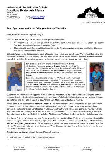 Spendenaktion für den 5-jährigen Sule aus Westafrika