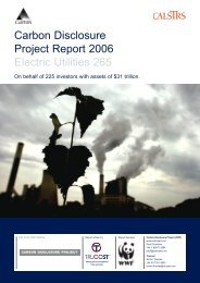 1 Executive Summary - Carbon Disclosure Project
