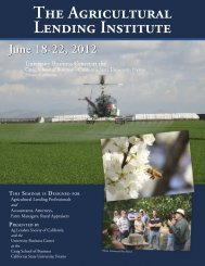 June 18-22, 2012 - The Agricultural Lending Institute