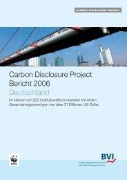 bezogenen CDP-Berichten - Carbon Disclosure Project