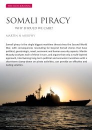 Somali Piracy: Why Should We Care? - RUSI