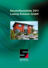 Baustoffpreisliste 2011 Ludwig Schierer GmbH - 112 Jahre ...