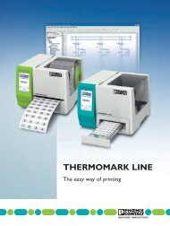 THERMOMARK LINE - The easy way of printing - Phoenix Contact