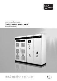 Sunny Central 125 - 560HE - SMA Solar Technology AG