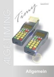 Allgemein - ALGE-TIMING