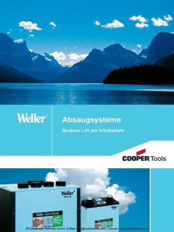 Weller WFE Absaugsysteme - PK Elektronik