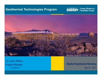 Geothermal Technologies Program Overview Presentation ... - EERE