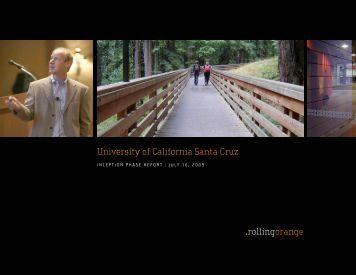 Inception Report - Web Presence Program - University of California ...
