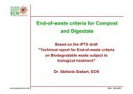 End-of-waste criteria for Compost and Digestate - European ...
