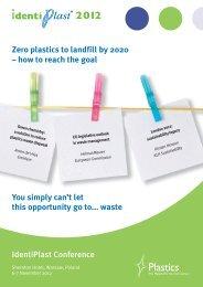 Programme - IdentiPlast 2012 6-7 November ... - PlasticsEurope