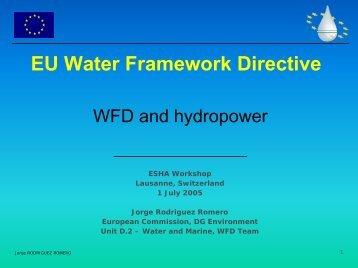 EU Water Framework Directive - ESHA