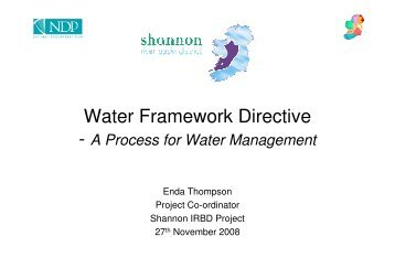 Water Framework Directive - The Heritage Council