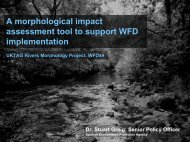 A morphological impact assessment tool to support WFD ...