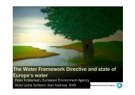 The Water Framework Directive and state of Europe's water - WISER