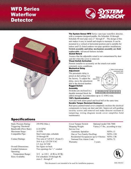 WFD Series Waterflow Detector - Diamond Electricals