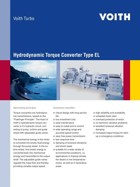 Hydrodynamic Torque Converter Type EL - Voith Turbo
