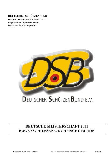 deutsche meisterschaft 2011 bogenschiessen ... - RSG Düren