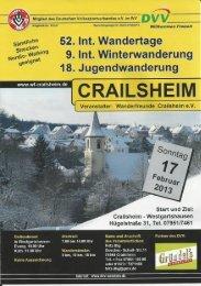 Prospekt - Wanderfreunde Crailsheim eV