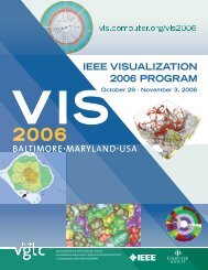 VIs 2006 COnfEREnCE aT-a-gLanCE - IEEE Computer Society