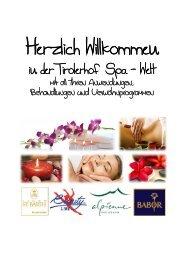 SPA-Oase Prospekt als PDF-Download - Hotel Tirolerhof