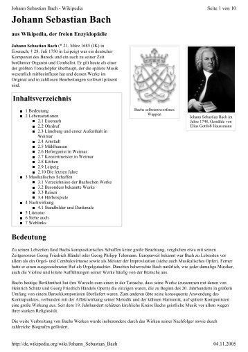 Johann Sebastian Bach - von index.php