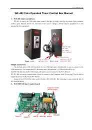 WF-402 Coin Operated Timer Control Box Manual