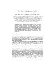 Workflow Modeling using Proclets - CiteSeerX