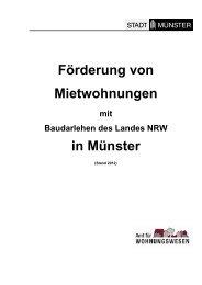 Förderung von Mietwohnungen mit Baudarlehen des ... - Münster