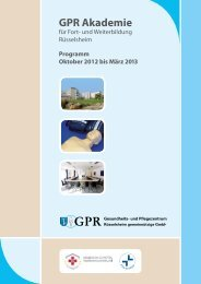 GPR Akademie - GPR Gesundheits