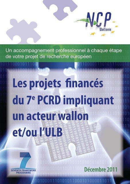 Les projets financés du 7e PCRD impliquant un     - NCP-Wallonie