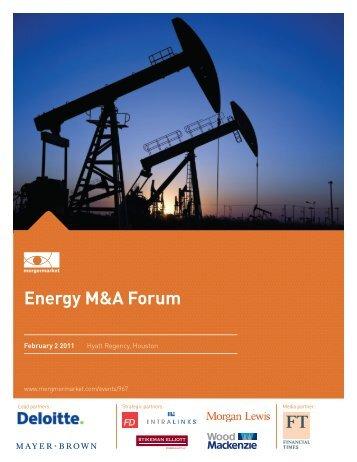 Energy M&A Forum - Mergermarket