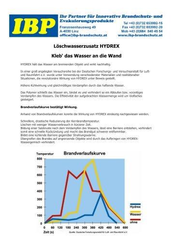 Hydrex Loeschwasserzusatz - IBP Brandschutz