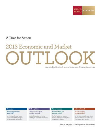Economic and market forecast - Wells Fargo Advisors